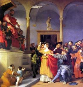 Santa Lucia davati al giudice - Lorenzo Lotto
