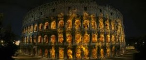 Colosseo in fiamme