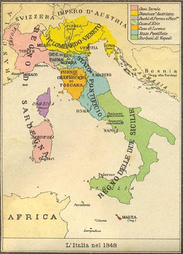 Le Cinque Giornate di Milano Italia-1848