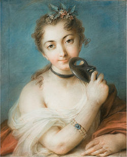 Ritratto femminile con maschera - Rosalba Carriera