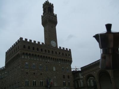 Moka davanti a Palazzo Vecchio a Firenze