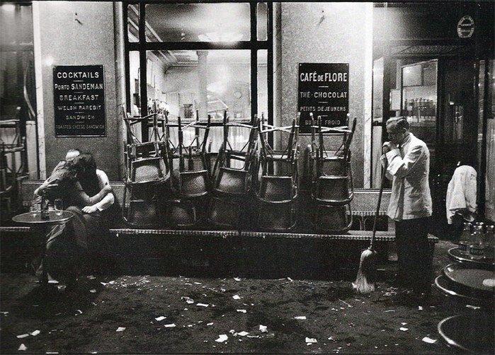 Cafè de flore  - Cartier Bresson