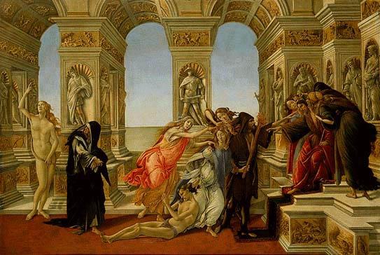 La calunnia - Sandro Botticelli