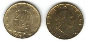 200 lire italiane