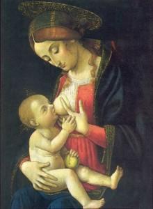 Madonna che allatta bambin Gesù - Macrino d'Alba
