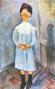 Amedeo Modigliani - Bambina in azzurro