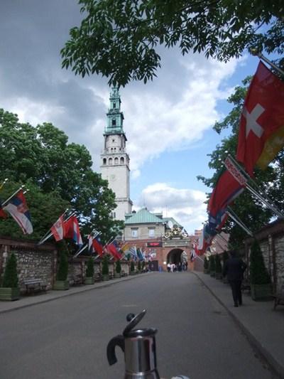 Moka passeggia a Czestochowa